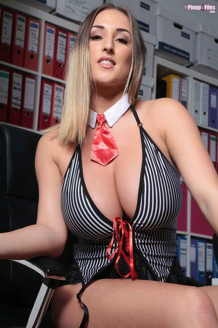 Suit Up and Suit Down with Busty Stacey Poole