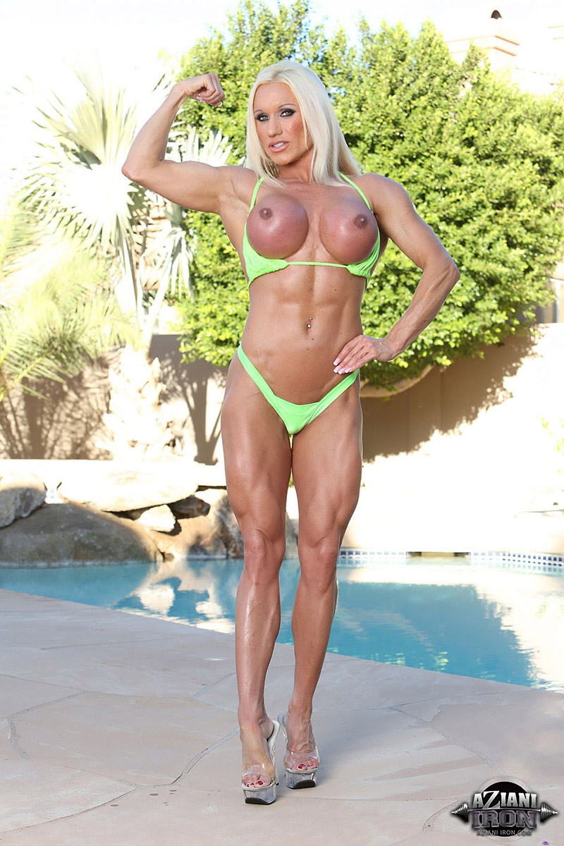 Ashlee Chambers Videos ashlee chambers busty fitness model in small green bikini