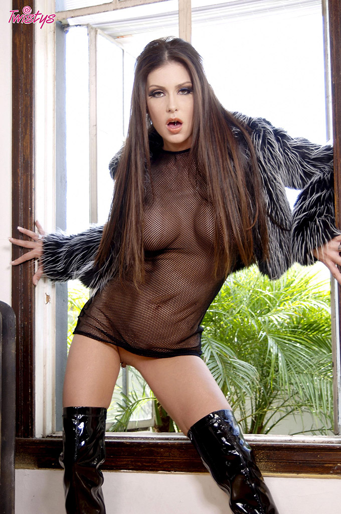 Jessica Jaymes Busty Brunette in Thigh-High Boots
