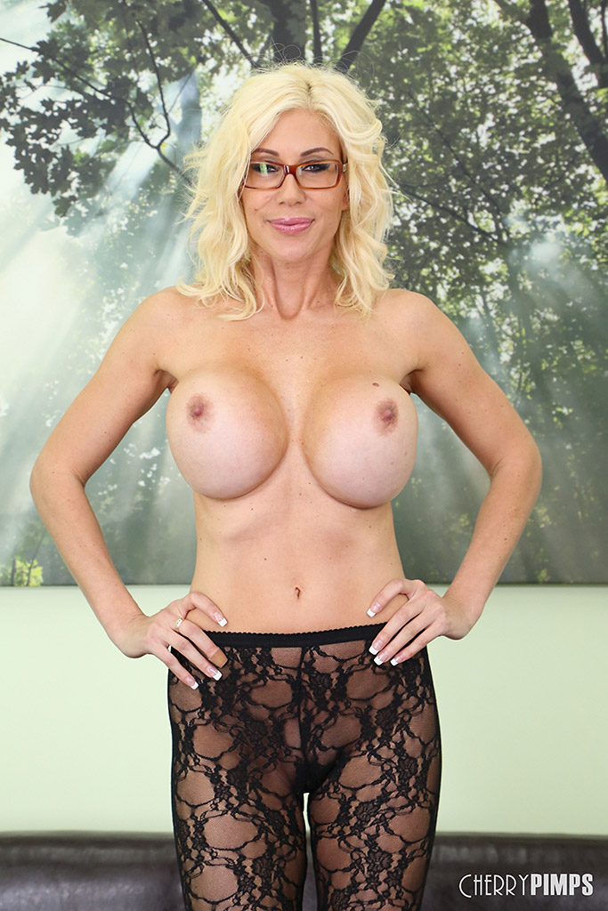 Puma Swede Busty Blonde in Sexy Black Lace