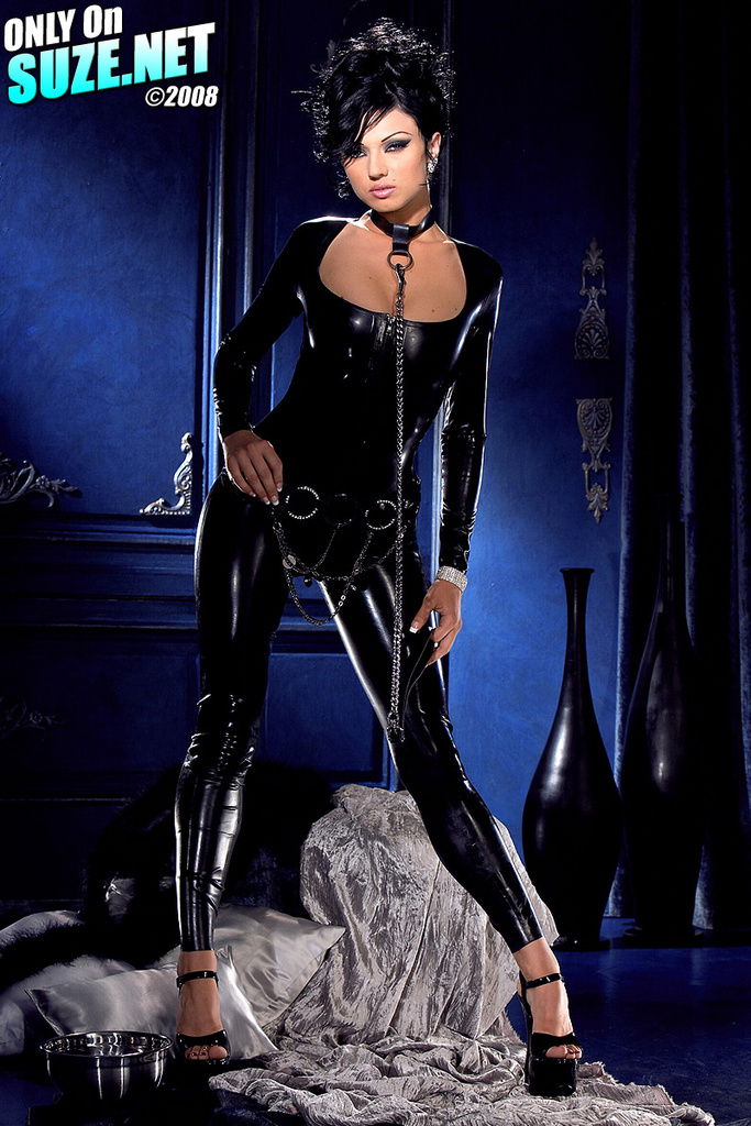 Ava Rose Skin Tight Latex Suit