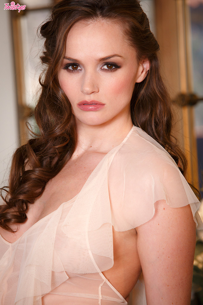 Tori Black Sleek and Sexy Brunette Slips Off Lingerie