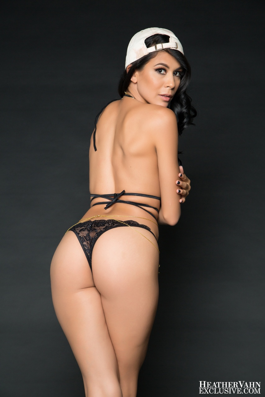 Heather Vahn Hats Off in Black Lace Lingerie