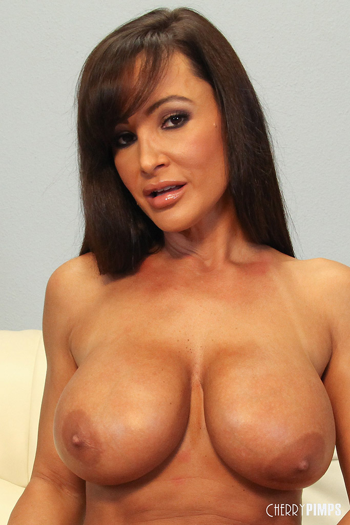 Lisa Ann Pleasures her Big Boob Bod with Blue Vibrator