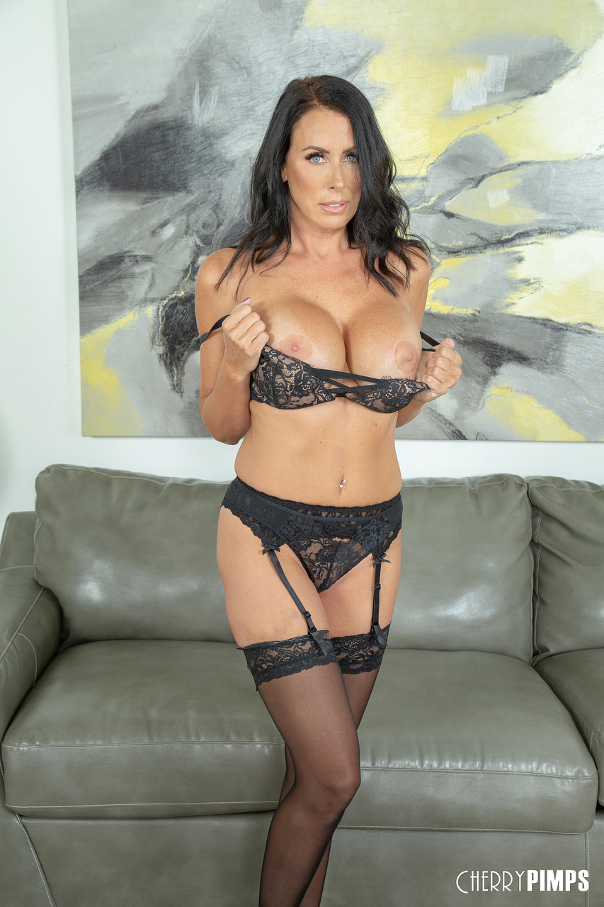 Reagan Foxx Busty MILF Teases in Black