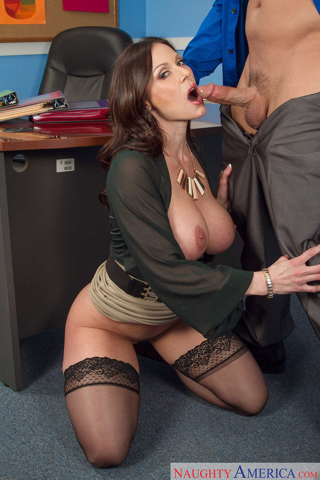 Brunette Teacher