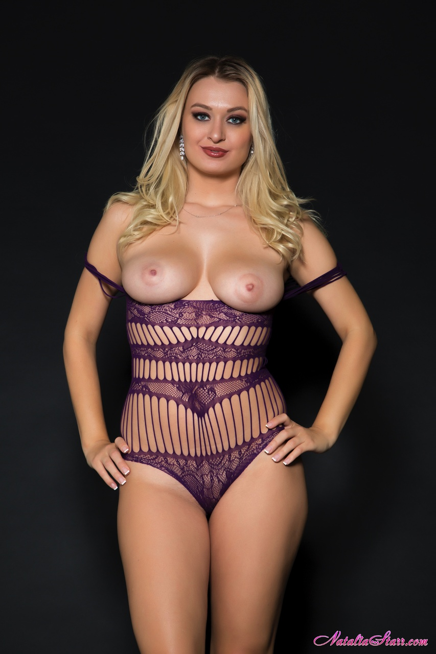 Natalia Starr Sheds Purple Lingerie and Spreads