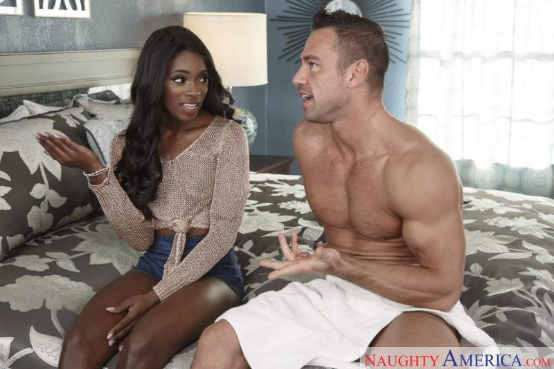 Ana Foxxx Ebony Minx Fucked in Hot Interracial Sex Scene