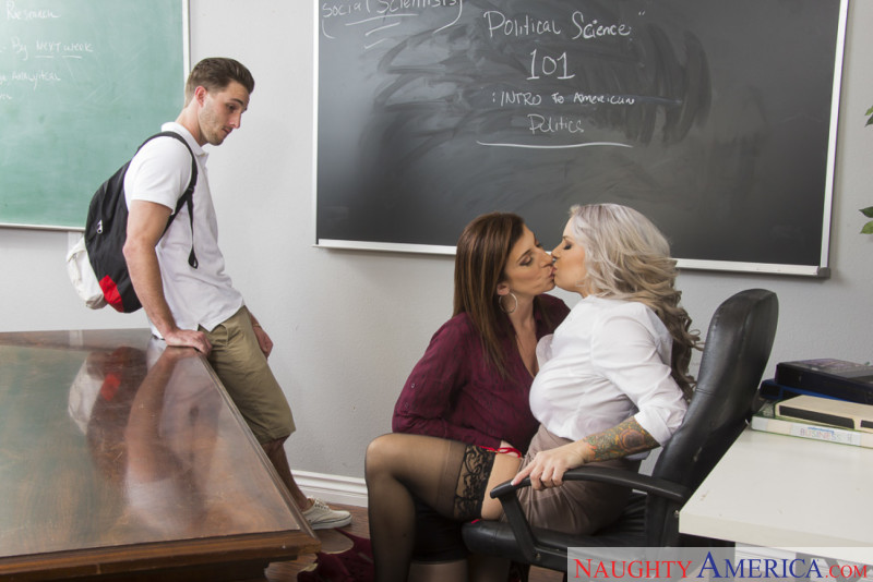 Alyssa Lynn and Sara Jay Horny Bi Teachers Caught by Student