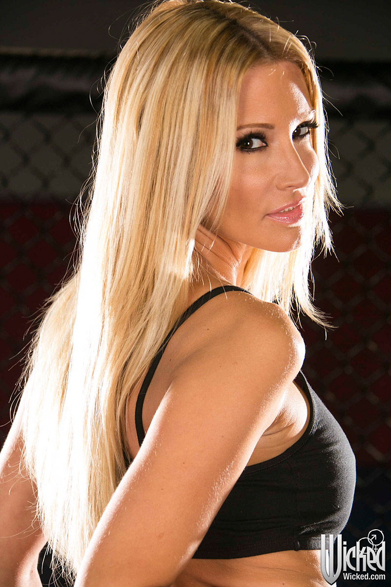 Jessica Drake is One Tough and Busty Cage Fighter