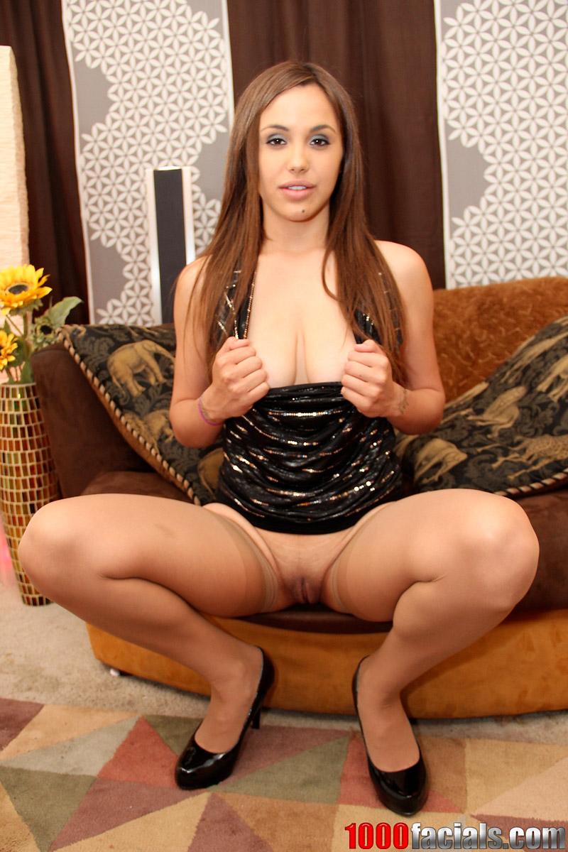 Sabrina Taylor Latina Pornstar Blowjob and Facial