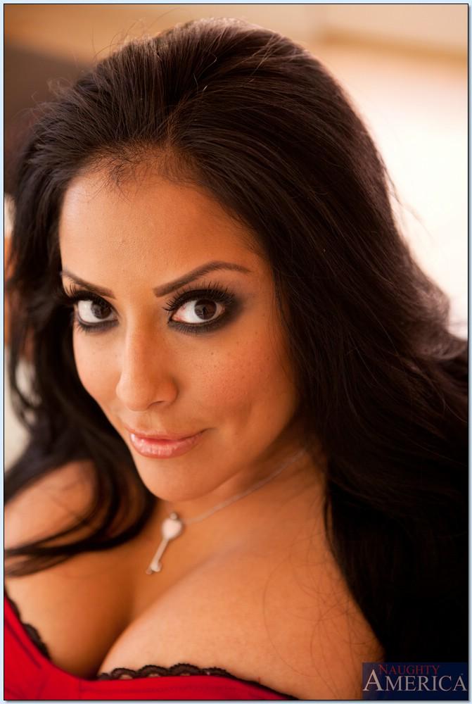 Kiara Mia Busty Latina MILF Drops Black Lace Lingerie